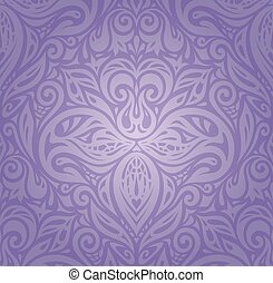 Violet Floral vintage pattern background design