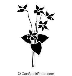 violet flower nature spring icon pictogram