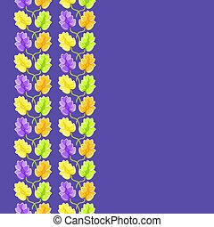 violet flower seamless pattern