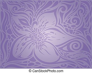 Violet Flowers, vintage seamless Floral pattern background