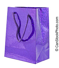 Violet giftbag - Violet gift bag isolated on white ...