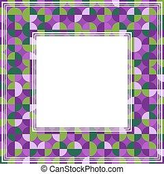 violet green abstract border