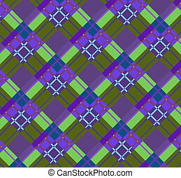 Violet-green plaid fabric(0).jpg