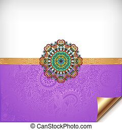 violet greeting card for indian festival sisters and brothers