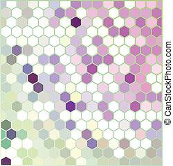 Violet Hexagonal Pattern