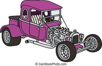 Violet hot rod