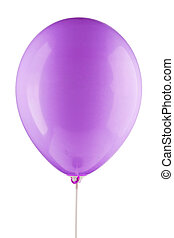 violet inflated air balloon