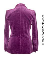 violet jacket isolated on white