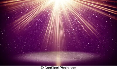 violet light beams and particles loopable background