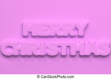 Violet Merry Christmas words bas-relief