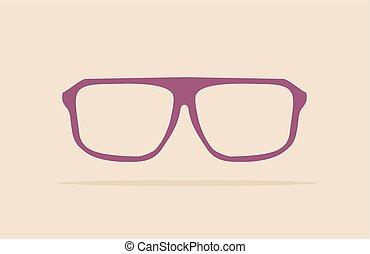 Violet nerd or professor glasses