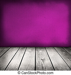 violet painted old wooden wall