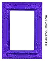 violet picture frame