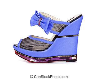 Violet platform shoes