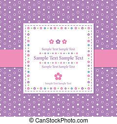 violet polka dot greeting card