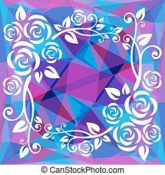 violet polygonal border