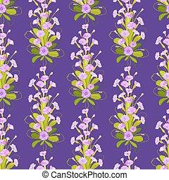 Violet primroses pattern. - Spring summer floral seamless ...