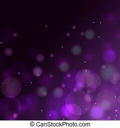 Violet purple bokeh gradient vector background.