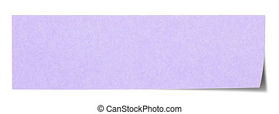 Violet rectangular sticky note
