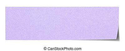 Violet rectangular sticky note