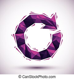 Violet reload geometric icon made in 3d modern style, best for u