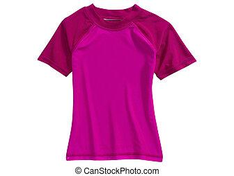violet shirt isolated on white background