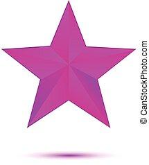 Violet star on white