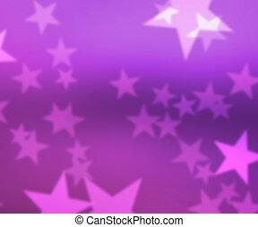Violet Stars Bokeh Background