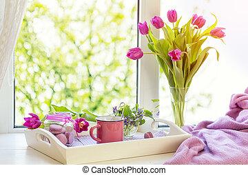 Violet sunshine cozy home concept