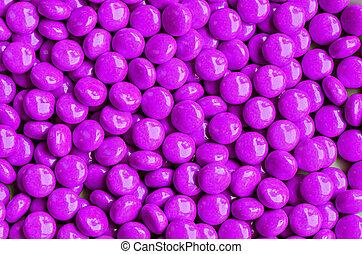 violet sweet candies