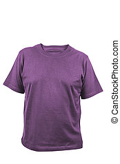 violet t-shirt isolated on white background