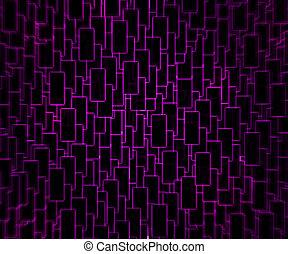 Violet Techno Background