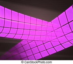 Violet Technology Background Squares