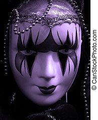 violet theatre mask