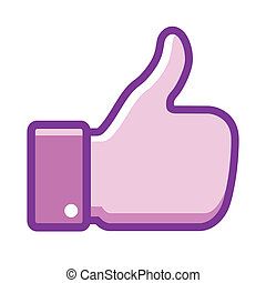 Violet thumb up icon