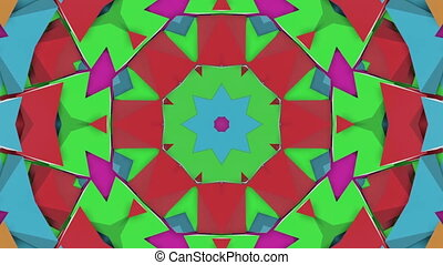 violet turquoise animated patterns. Hypnotic Kaleidoscope....