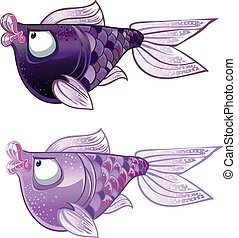 violet two Fishes