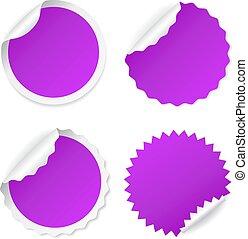 Violet vector sticker