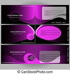 Violet visit cards set
