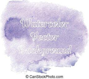 Violet watercolor background banner