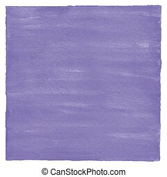 Violet watercolor on white background