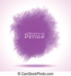 Violet Watercolor splatter. Vector illustration
