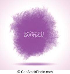Violet Watercolor splatter.