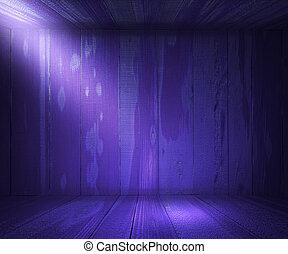 Violet Wooden Spotlight Room Interior Background