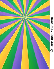 Violet, yellow and green rays carnival poster background