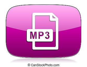 violeta, arquivo mp3, ícone