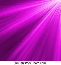 violeta, luminoso, rays., eps, 8
