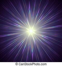 violeta, luz