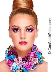 violeta, maquillaje