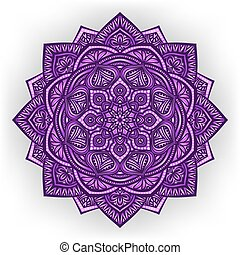 violeta, plano de fondo, floral, redondo, ornamento, blanco